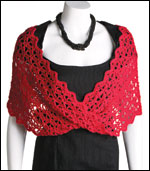 Lace-With-a-Twist Wrap, page 37