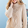Slip Into Style -- Top-Down Aran Pullover