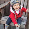 Baby Love -- Baby Button Boot Socks & Ear Flap Cap