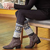 Dress It Up -- Snowflake Leg Warmers