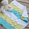 Baby Love -- Butterfly Pram Blanket