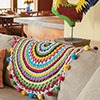 At Home -- Bold Boho Mini Throw