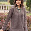 Slip Into Style -- Easy Top-Down Macchiato Sweater