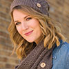 Dress It Up -- Button Up Slouchy Hat & Cowl