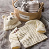 Baby Love -- Knit-Look Hat & Pullover for Baby