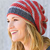 Dress It Up -- Modern Stripe Slouchy Beanie