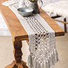 At Home -- Cotton Bloom Table Runner