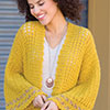 Slip Into Style -- Date Night Autumn Gold Cardi