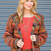 Slip Into Style -- Warm Embers Cardi