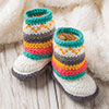 Baby Love -- A Touch of Fair Isle Mukluk Booties
