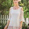 Slip Into Style -- Cold Shoulder Mandala Top