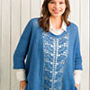 Slip Into Style -- Classic Blue Lace Panel ...