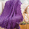 At Home -- On-Point Lace Throw