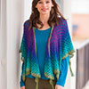 Done in One -- Give It a Whirl Tassel Shawl